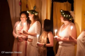 Candle Light Ceremony, Delilah, Kalara, Faren, Elizabeth