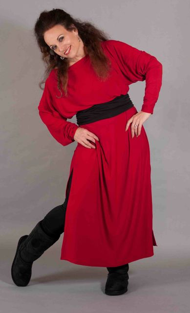 DelilahDress Red BlackPants&Belt99
